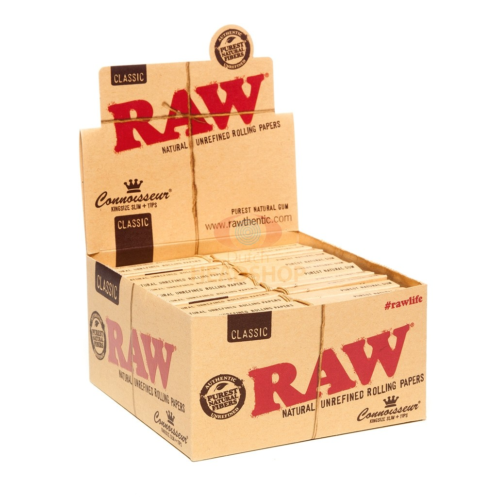 RAW Connoisseur Classic Papers und Filter Tips | King-Size Slim